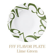 FFF FLAVOR PLATE  (Lime Green)