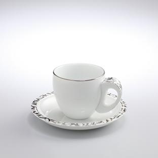 Platinum Coffee Cup & Saucer
