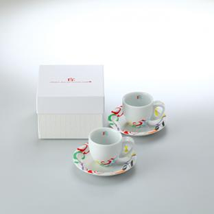 Color Dreams Demitasse Cup & Saucer Pair Set